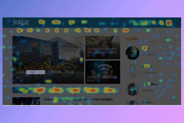 百度统计网站的热力图能够很清楚用户喜欢点击那个页面
