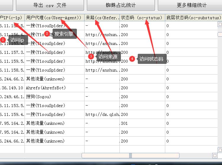 网站日志软件在线查找界面